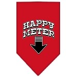 Happy Meter Screen Print Bandana Red Small